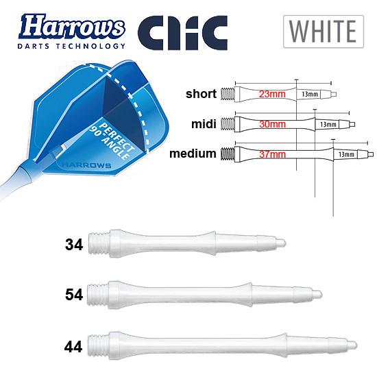 HARROWS Clic Shafts Slimline white