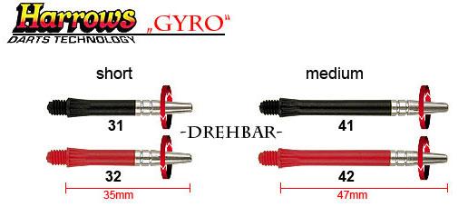 HARROWS Gyro -drehbar-